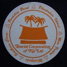 Paradise Point Plantation Island Man Friday Tourist Corp Fiji Coaster (B308)