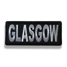 """Embroidered 3"""" Glasgow Sew or Iron on Patch Biker Patch"""