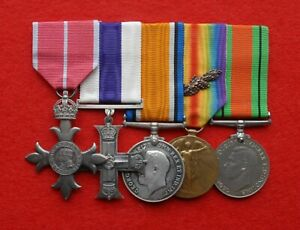 Great War Black Watch Military Cross - WW2 Home Guard MBE Medal Group
