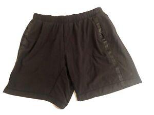 Men Lululemon Athletic Training Shorts Black Size M/L Performance Sport Lined