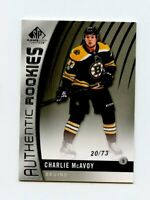 17/18 SP GAME-USED SPGU ROOKIE RC #87 CHARLIE MCAVOY 20/73 BRUINS