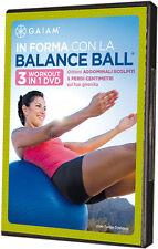 DVD SIGILLATO, NUOVO:  IN FORMA CON LA BALANCE BALL - 3 WORKOUT IN 1 DVD