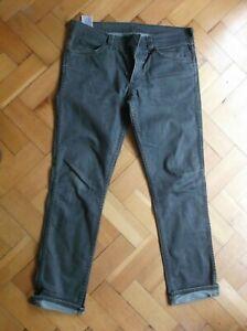"Quality Vintage Mens LEVIS ""511"" Slim Fit Faded Black / Dark Grey Jeans. 34 / 32"