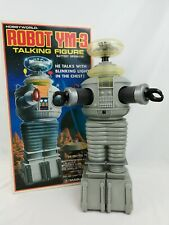 Vintage 1986 MASUDAYA TALKING ROBOT YM-3 LOST IN SPACE B-9 ROBOT, 16 inches tall