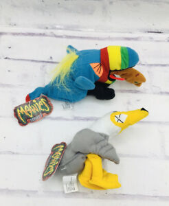 Vintage Meanie Beanie Peter Peagull Hurley  Toucan Lot Rare Series 1 Tags New
