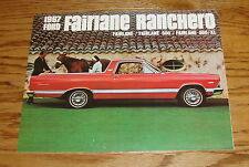 1967 Ford Fairlane Ranchero Pickup Sales Brochure 67