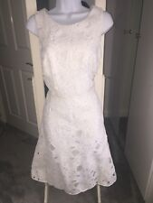 Next White A-line Dress, Lace Overlay Style Size 10 Tall