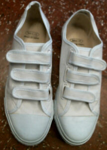 County Prison Authentic Inmate Issue Shoes, Unisex, Mens 8, Womens 10, White NEW
