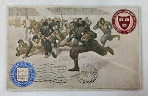 1907 Yale Harvard College Football Game Postcard Harvard Series No. 11