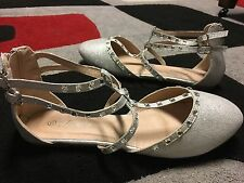 white bridal shoes wedding shoes size 10 brand new