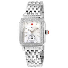NEW Authentic Michele Deco 16 Mid Diamond MWW06V000001 Ladies Watch