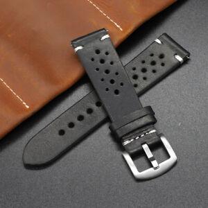 Mens Watch Strap Genuine Handmad Leather Wrist Band 18MM 20MM 22MM 24MM UKStock