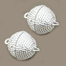 2 MAGNET VERSCHLÜSSE XXL Rund 16/21mm silberfarbig Perlen nenad-design AN108