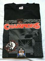 VTG 1999 Buffalo Sabres Goat Head Eastern Conference Champs NHL Men's XL