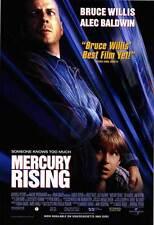 MERCURY RISING Movie POSTER 27x40 Bruce Willis Alec Baldwin Miko Hughes Kim