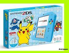 Pokemon 2DS Game console Sun Moon Light Blue Pikachu Japan Nintendo center