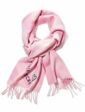 VICTORIAS SECRET WINTER ANGEL COLLECTION SCARF PINK & BLACK COZY HEART SOFT NWT