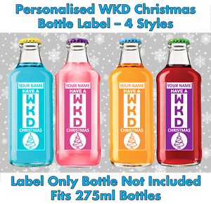 Personalised WKD Christmas Bottle Label 275ml Sectret Santa Novelty Gift