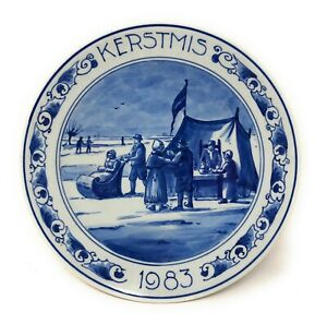Vintage Delft Limited Edition Kerstmis Decorative Plate 1983.  252/1000