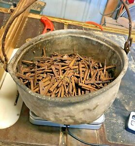 """Approx. (14 lbs) ANTIQUE (1800'S)  SQUARE 2.5"""" LONG NAILS"""