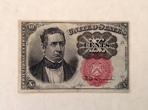 ~ FR 1266 TEN 10 CENTS FIFTH / 5TH ISSUE FRACTIONAL CURRENCY NOTE - MERIDITH