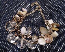 GOLD Tone Bracciale Catena in Metallo con Perline Vari DISCHI E CERCHI 6-8 ins lunga