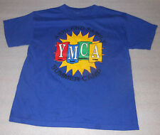 Ashland Family YMCA Summer Camp T-Shirt Blue Short-Sleeve Crew Neck Youth 8-10