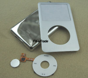 Silver Faceplate Housing Case Cover Clickwheel Button for iPod 7th Classic 160GB