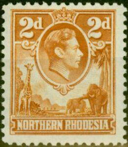 Northern Rhodesia 1938 2d Yellow-Brown SG31 Fine Lightly Mtd Mint