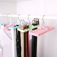AU_ FT- Closet Belt Storage Rack Rotating Hanger Wardrobe Scarf Tie Organizer Ho