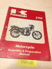 Kawasaki Z750 Z KZ 750 E1 manuel assemblage assembly preparation setup  éd. 79