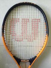 "New listing Wilson Titanium 3 Tennis Racquet Soft Shock 4 1/2"" Grip. Orange Black Cheap Sale"