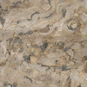 Rasch Black ForestMarble Effect Stone Wallpaper - Natural - 514612
