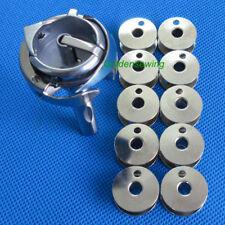 HOOK&BOBBIN CASE # 240558,10655 + 10 PCS Bobbins for Juki LU-562 SINGER 111W155
