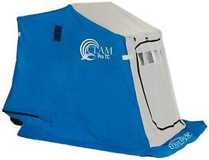 CLAM Scout TC-1 DLX Seat Ice Fishing Sled/shelter PLUS Free Hummingbird 180 Fish