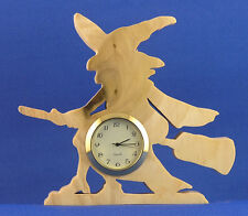 Flying Witch Mini Clock - Hand cut w/ choice of insert