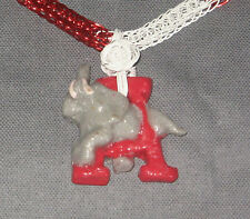 """Gold Red White Alabama viking knit chain necklace 22"""" hypoallergenic Marie #183"""