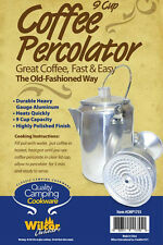 Camping Hiking Coffee Percolator 9-Cup  Aluminum Pot