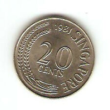 Offer>Singapore 20 cents 1981 Fish coin  high grade! ??