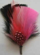 Black and Pink - Hat Band Feather Hatband Feathers - Classic Fedora Trim - BUY