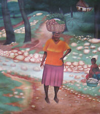 Vintage  Painting by Haitian Artist Fontaine