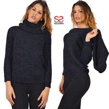maglione da donna elegante pullover invernale maniche lunghe scaldacollo 1208