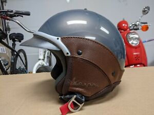 Awesome Rare - Vespa Leather Siding Motorcycle Helmet Womens Small