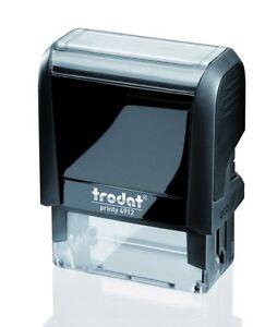 tampon encreur trodat 4912 47x18 mm marqueur de texte encre noir  4 lignes max