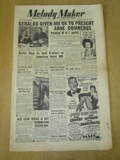 MELODY MAKER 1952 AUGUST 30 GERALDO MUSICIANS UNION GRACIE COLE BERTIE KING BING