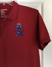 Giordano Men's Red Tapered Fit Short Sleeved Polo Shirt w/ Big Lion Sz XL New!