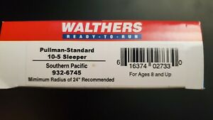 Walthers Pullman Standard 10-5 Sleeper Southern Pacific 932-6745