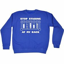Stop Staring At My Rack SWEATSHIRT jumper birthday chemistry college university