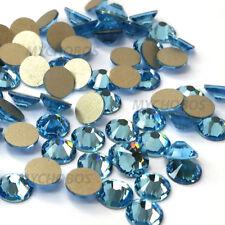 Swarovski 2058/2088 crystal flatback rhinestones 144 pcs blue AQUAMARINE (202)