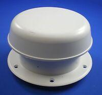 Plastic Opening Mushroom Vent 150mm White Sealing Flange Boat Motorhome Caravan